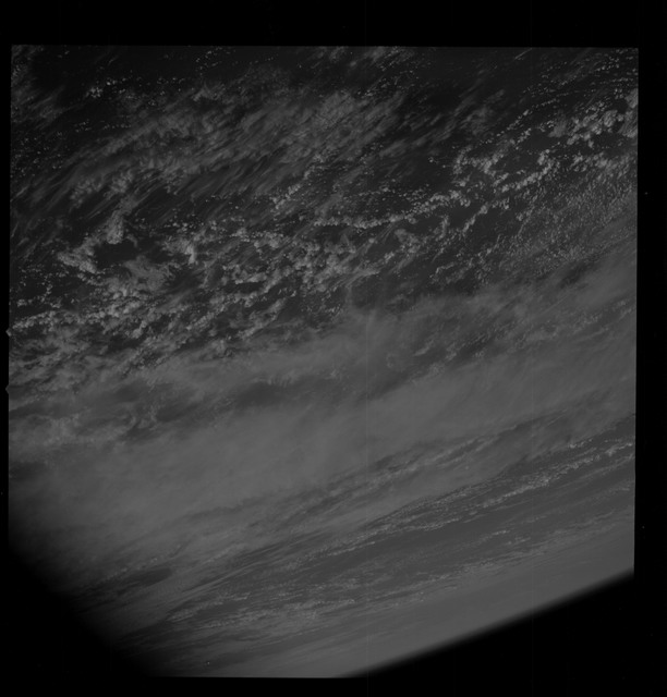 AS09-26B-3697B - Apollo 9 - Apollo 9 Mission image - S0-65 Multispectral Photography - Earth limb and clouds