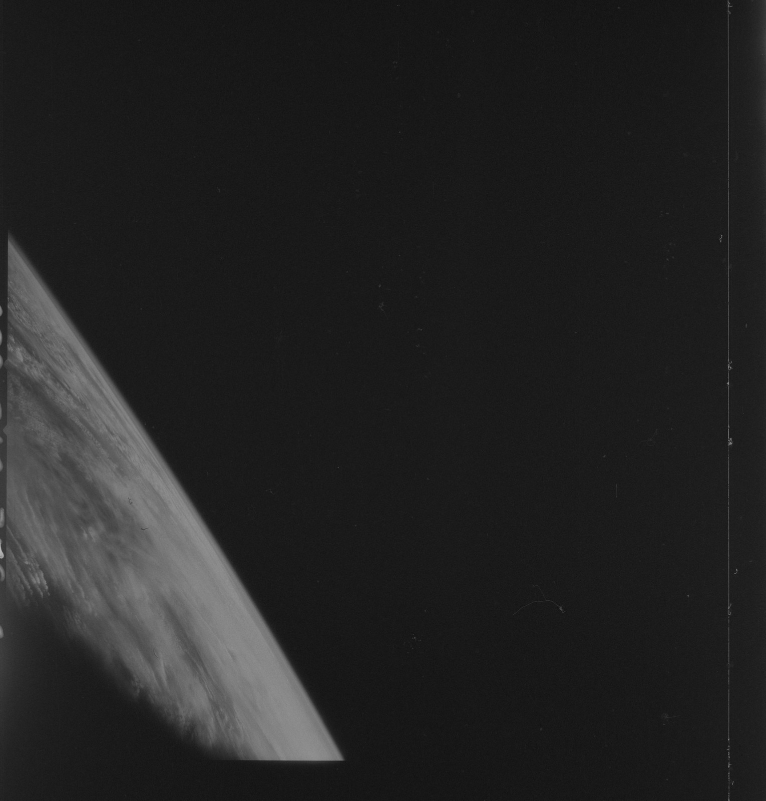 AS09-26C-3696C - Apollo 9 - Apollo 9 Mission image - S0-65 Multispectral Photography - Earth limb and clouds