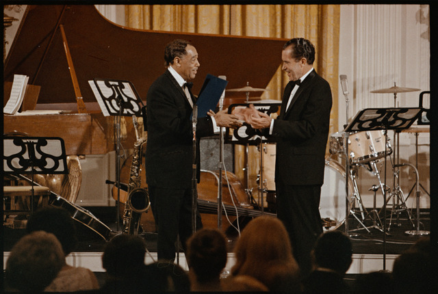 President Richard Nixon Presenting Duke Ellington with the Presidential Medal of Freedom