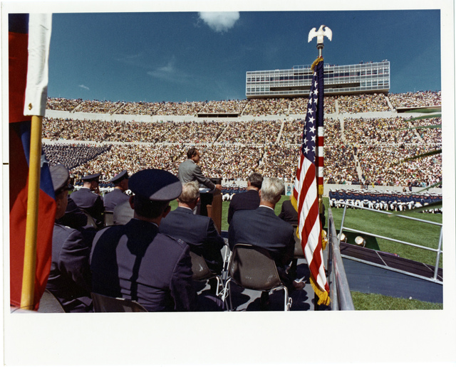 President Richard Nixon Gives a Commencement Ceremony Speech at Air Force Academy in Colorado Springs