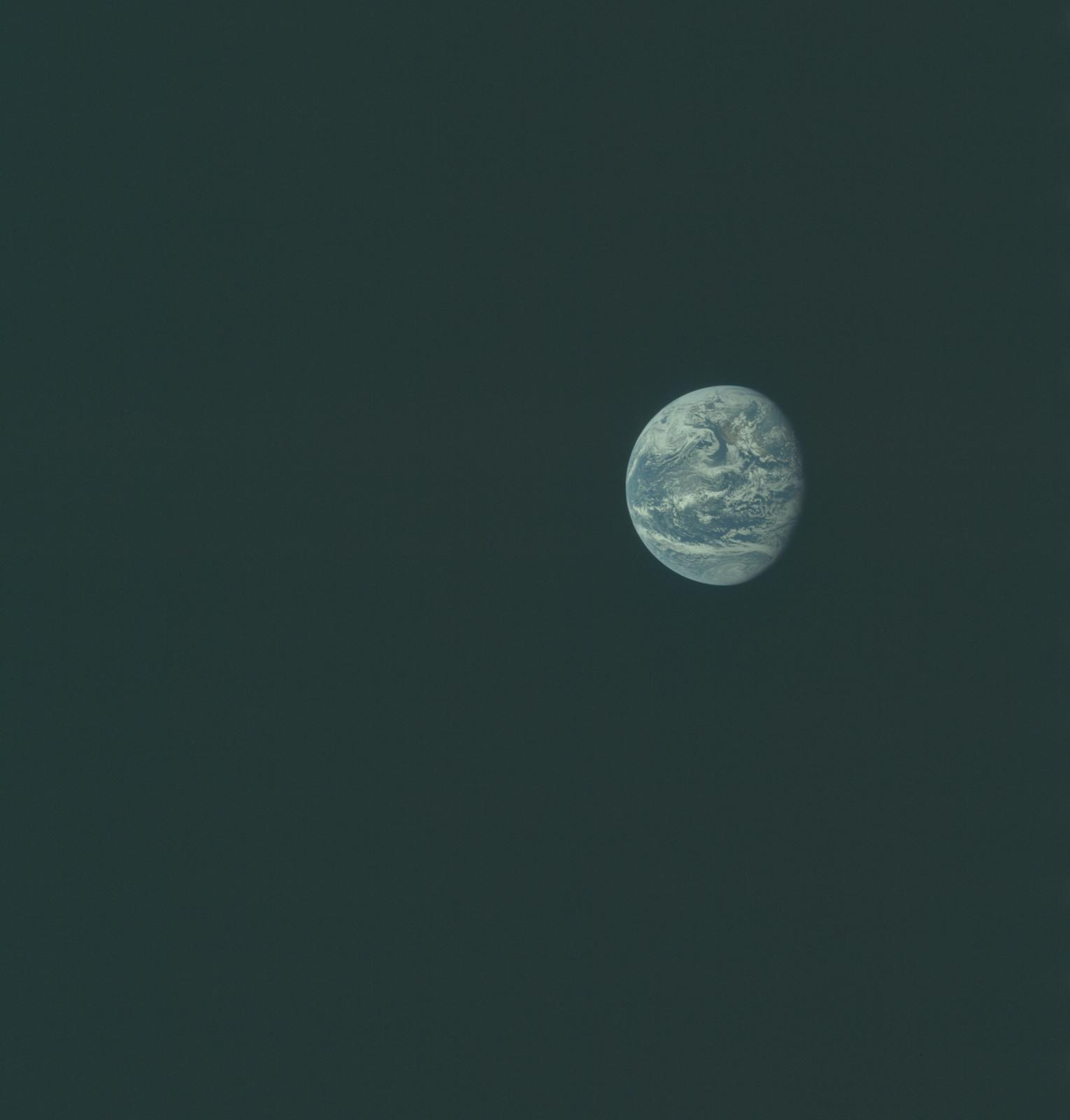 AS11-36-5332 - Apollo 11 - Apollo 11 Mission image - Earth view