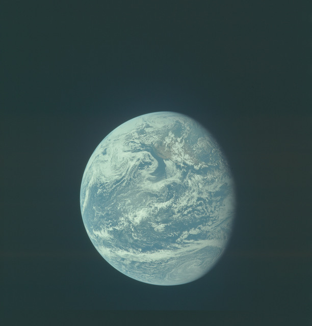 AS11-36-5340 - Apollo 11 - Apollo 11 Mission image - Earth view over Central and North America