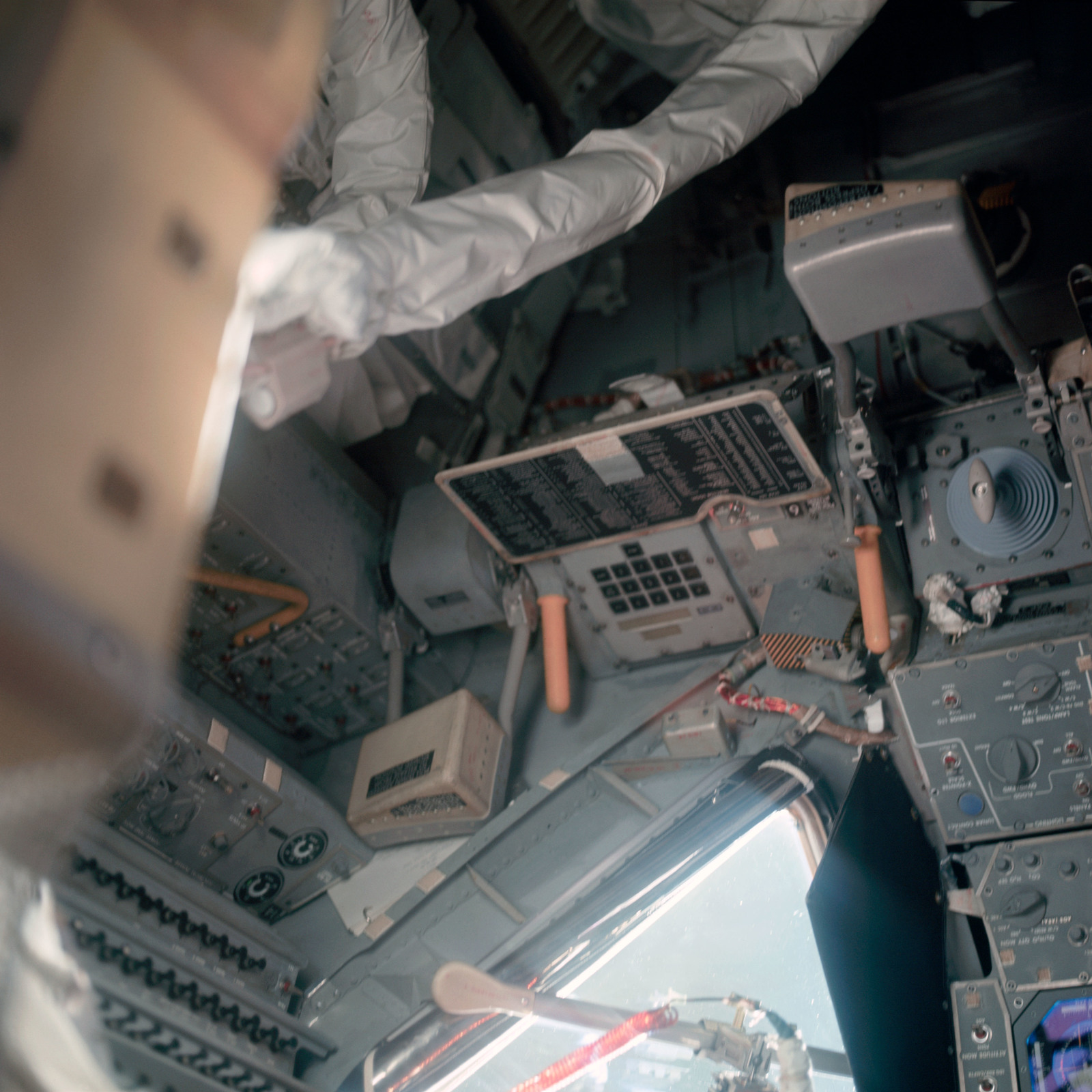 AS11-36-5392 - Apollo 11 - Apollo 11 Mission image - Fight controls inside the Lunar Module