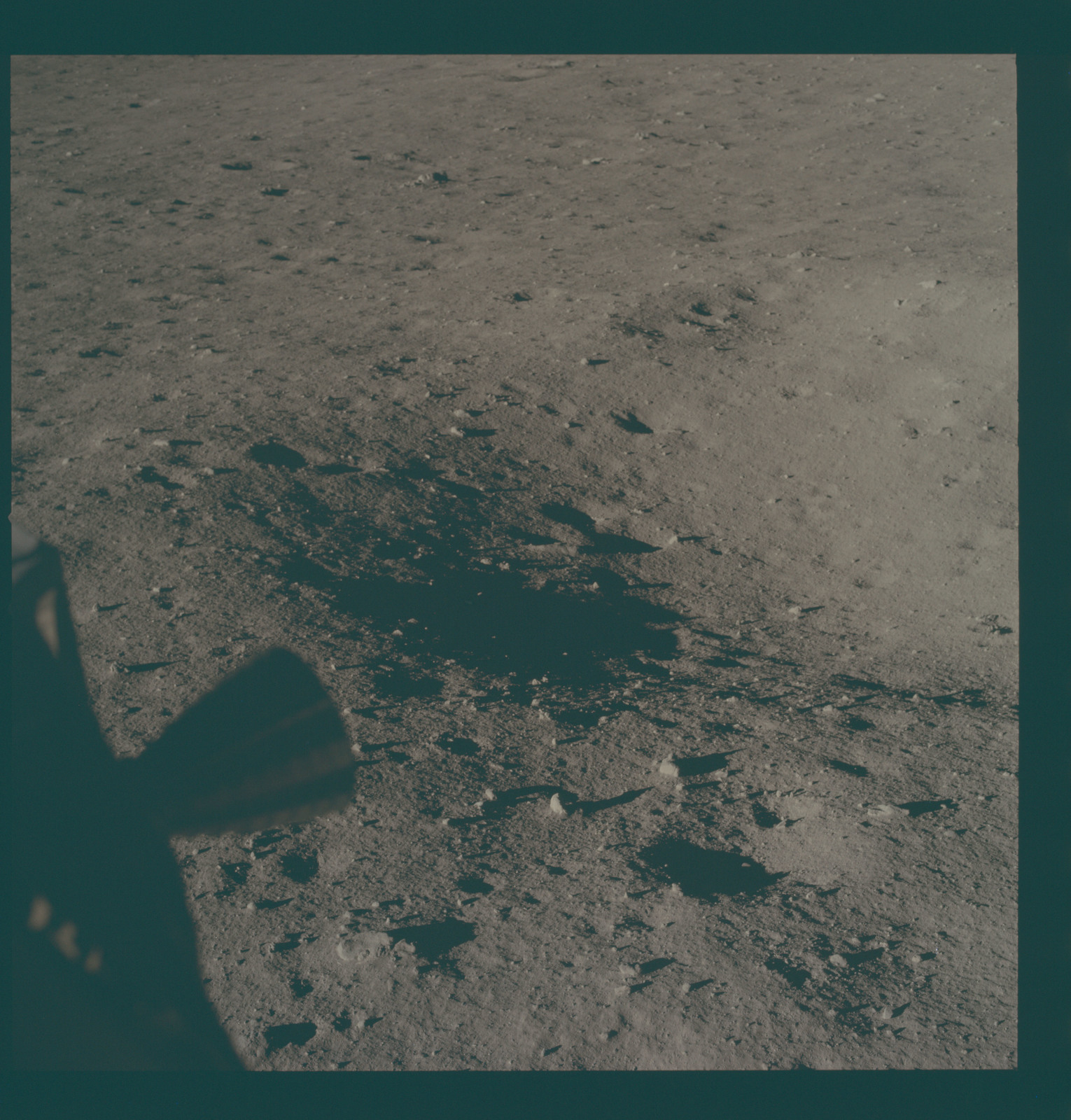 AS11-37-5452 - Apollo 11 - Apollo 11 Mission image - Lunar surface at Tranquility Base