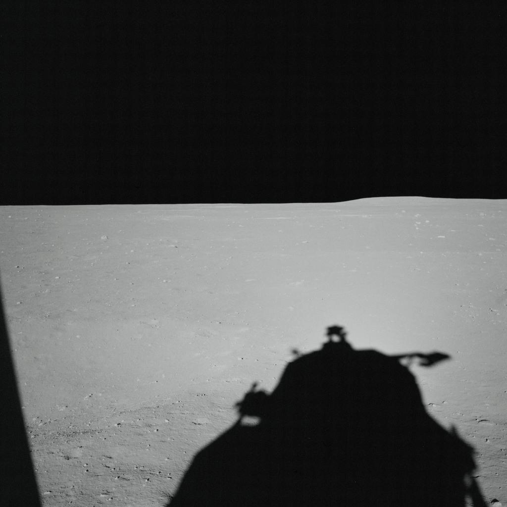 AS11-37-5454 - Apollo 11 - Apollo 11 Mission image - Lunar horizon from Tranquility Base