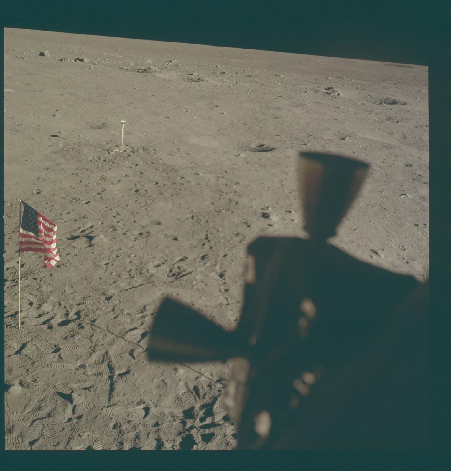 AS11-37-5468 - Apollo 11 - Apollo 11 Mission image - Lunar horizon from Tranquility Base