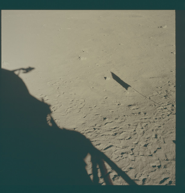 AS11-37-5474 - Apollo 11 - Apollo 11 Mission image - Lunar surface at Tranquility Base