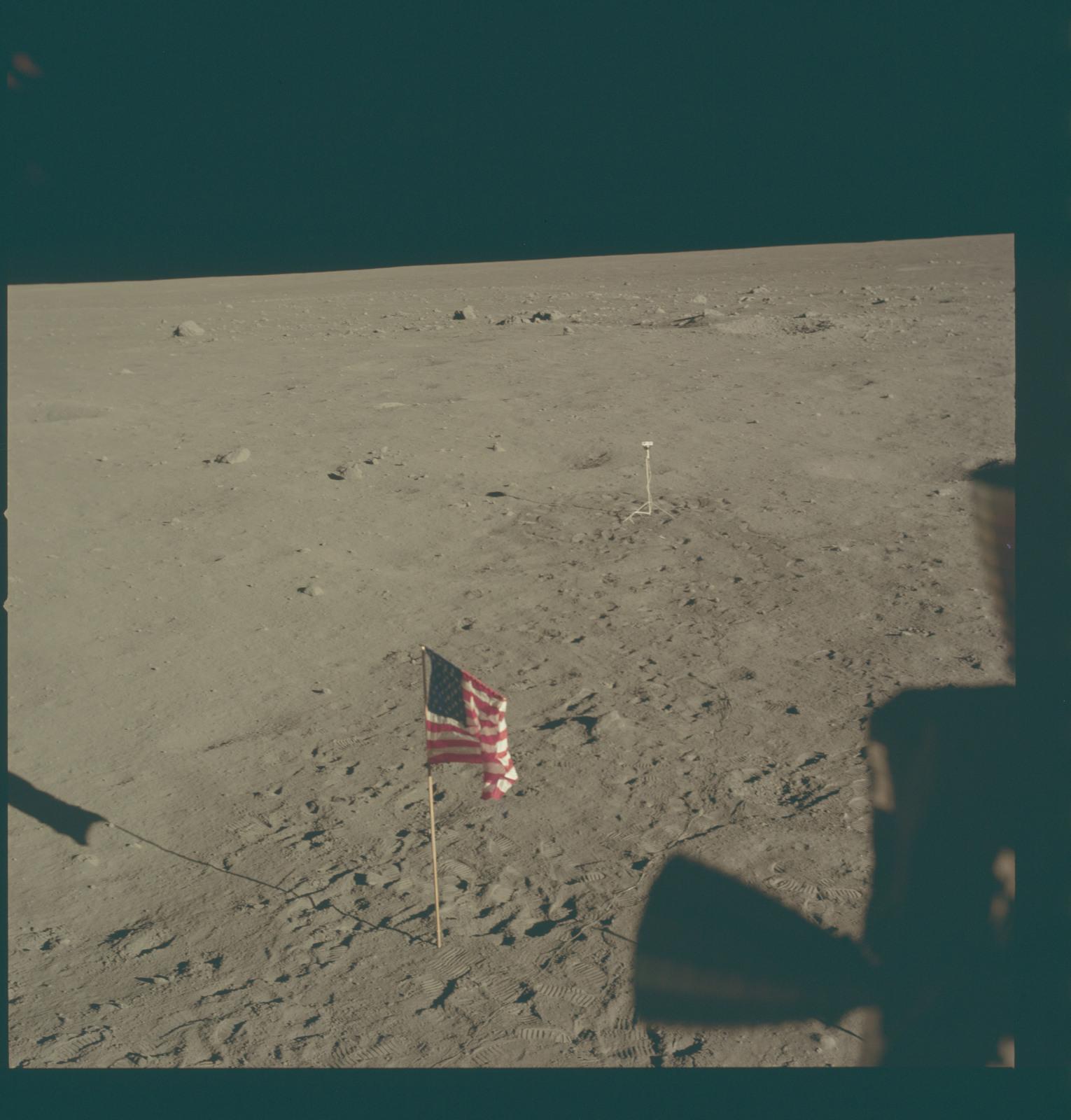 AS11-37-5480 - Apollo 11 - Apollo 11 Mission image - Lunar horizon from Tranquility Base