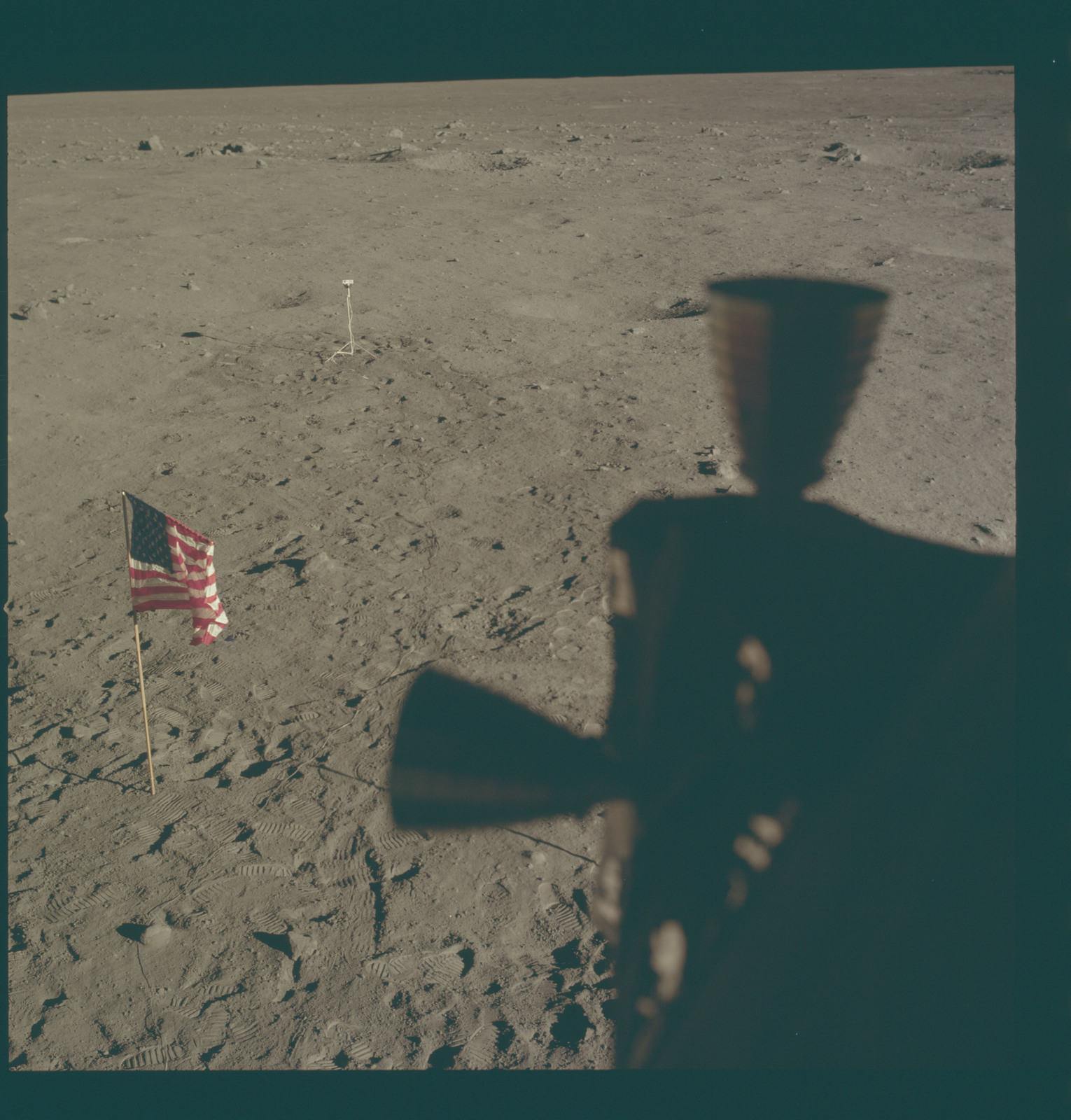AS11-37-5481 - Apollo 11 - Apollo 11 Mission image - Lunar surface at Tranquility Base