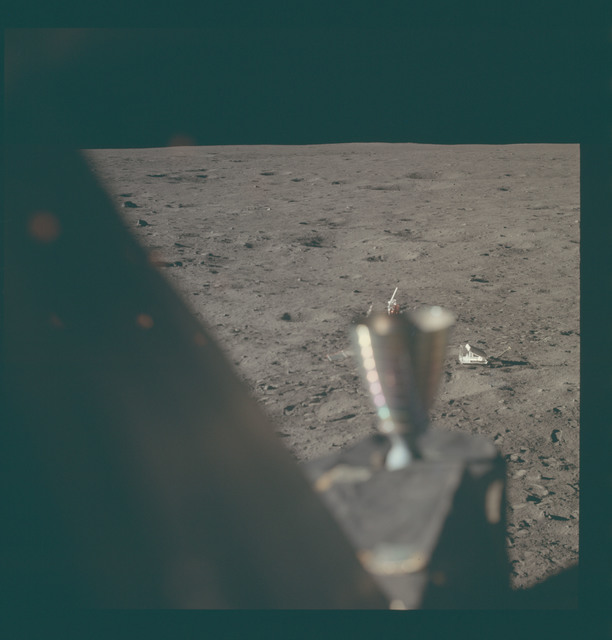 AS11-37-5499 - Apollo 11 - Apollo 11 Mission image - Lunar horizon from Tranquility Base