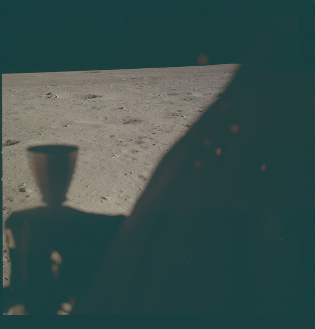 AS11-37-5514 - Apollo 11 - Apollo 11 Mission image - Lunar horizon from Tranquility Base