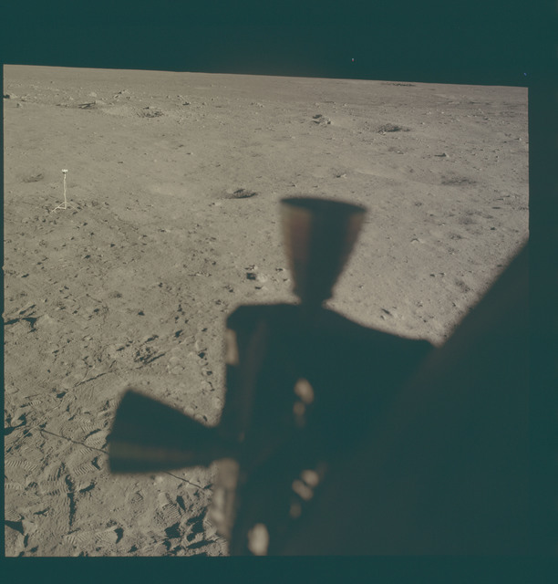 AS11-37-5515 - Apollo 11 - Apollo 11 Mission image - Lunar horizon from Tranquility Base