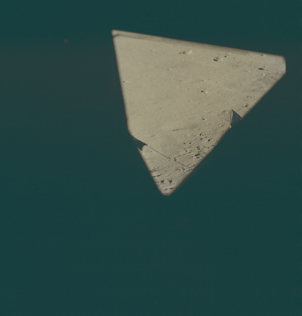 AS11-37-5519 - Apollo 11 - Apollo 11 Mission image - Lunar horizon from Tranquility Base