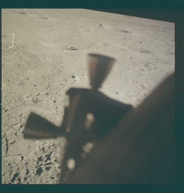 AS11-37-5542 - Apollo 11 - Apollo 11 Mission image - Lunar surface at Tranquility Base