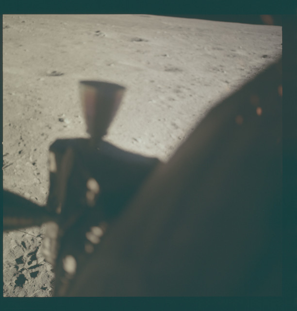 AS11-37-5543 - Apollo 11 - Apollo 11 Mission image - Lunar surface at Tranquility Base