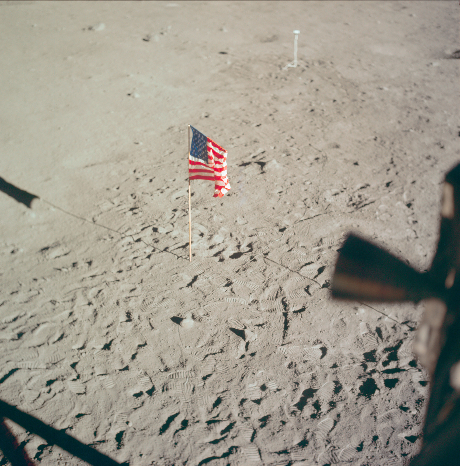 AS11-37-5545 - Apollo 11 - Apollo 11 Mission image - Lunar surface at Tranquility Base