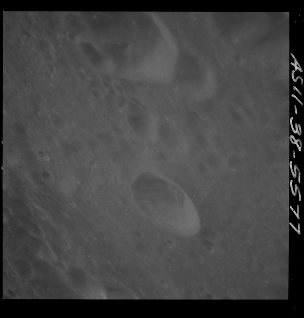 AS11-38-5577 - Apollo 11 - Apollo 11 Mission image - View of Moon, west of Crater 297