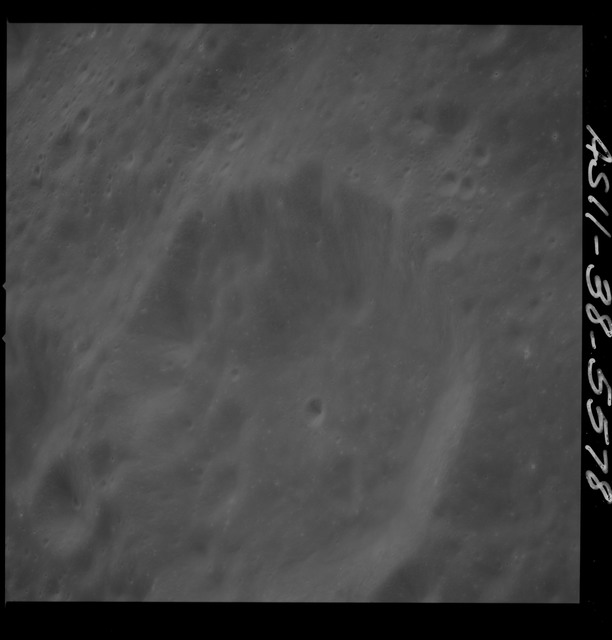 AS11-38-5578 - Apollo 11 - Apollo 11 Mission image - View of Moon, west of Crater 292