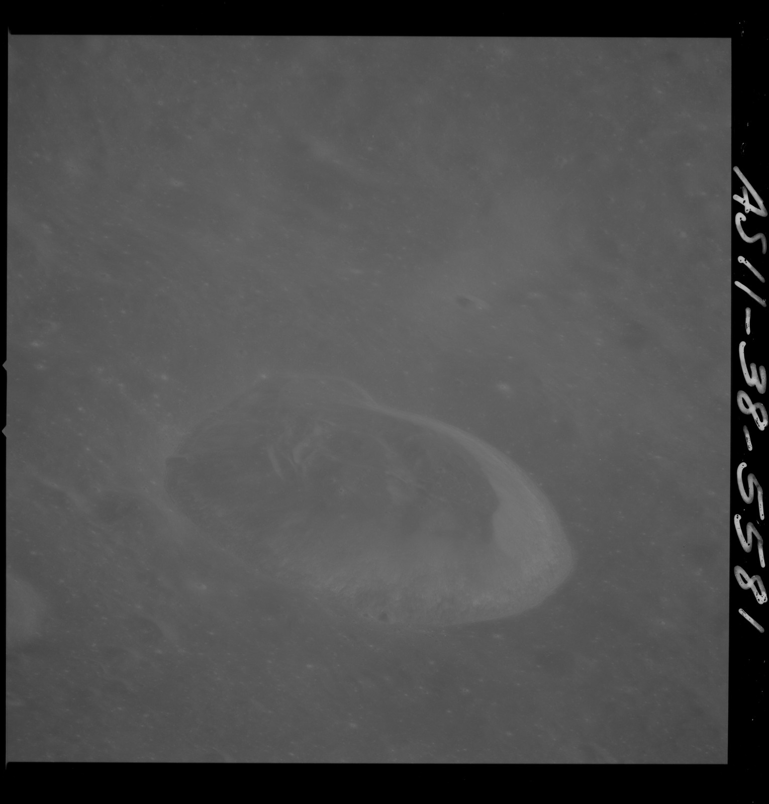AS11-38-5581 - Apollo 11 - Apollo 11 Mission image - View of Moon, west of Crater 292