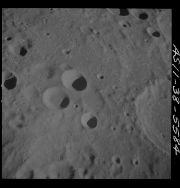 AS11-38-5584 - Apollo 11 - Apollo 11 Mission image - View of Moon, north of Crater 304
