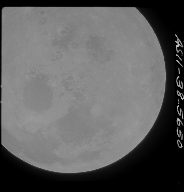 AS11-38-5650 - Apollo 11 - Apollo 11 Mission image - Partial view of Moon after Transearth Insertion