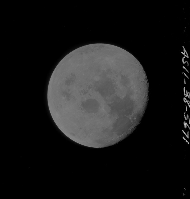 AS11-38-5671 - Apollo 11 - Apollo 11 Mission image - View of Moon after Transearth Insertion