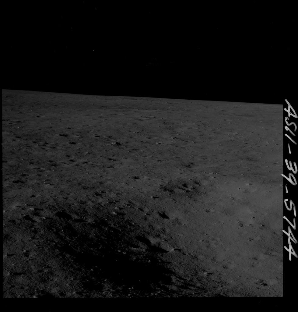 AS11-39-5744 - Apollo 11 - Apollo 11 Mission image - Lunar surface
