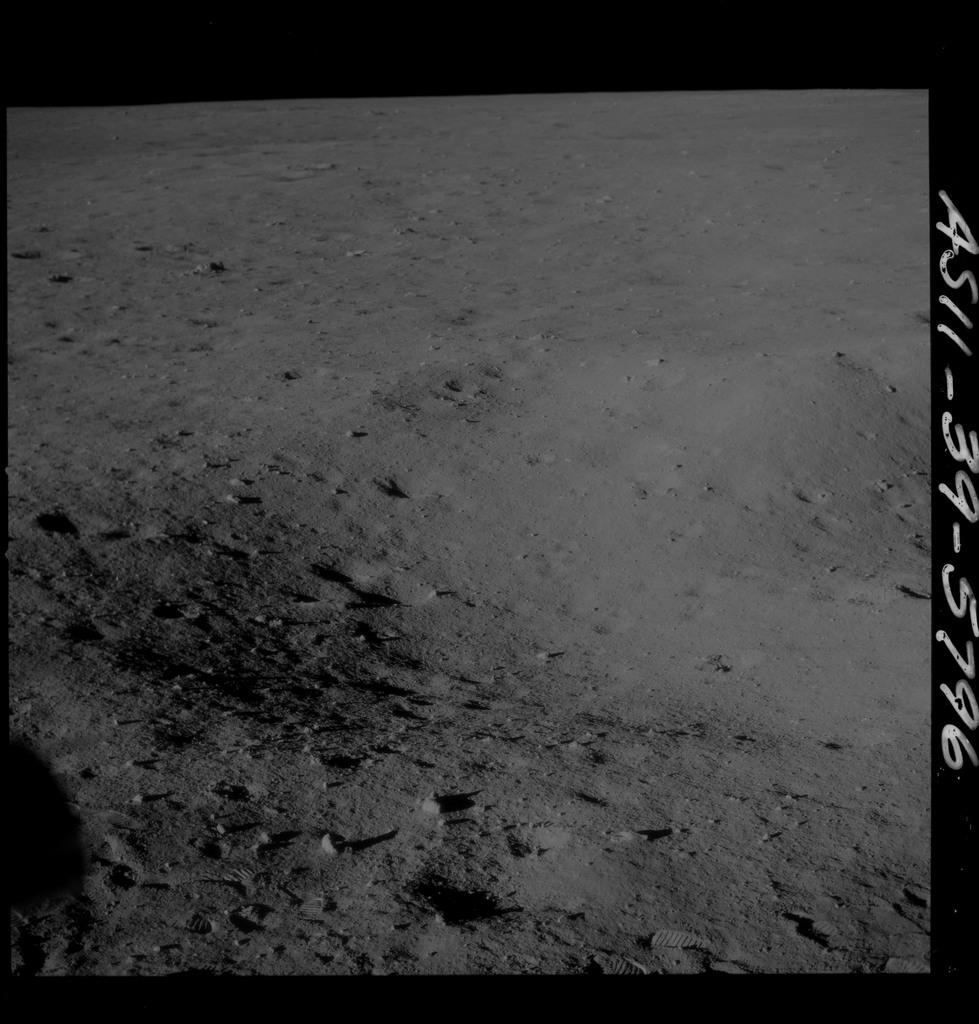AS11-39-5796 - Apollo 11 - Apollo 11 Mission image - Lunar surface