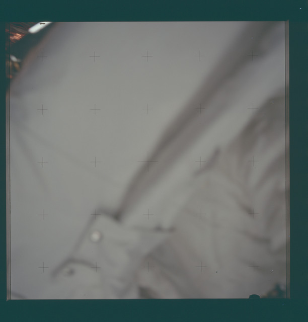 AS11-40-5904 - Apollo 11 - Apollo 11 Mission image -  Unfocused view of a Portable Life Support System