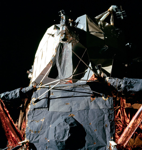 AS11-40-5922 - Apollo 11 - Apollo 11 Mission image -  Close up view of the Lunar Module