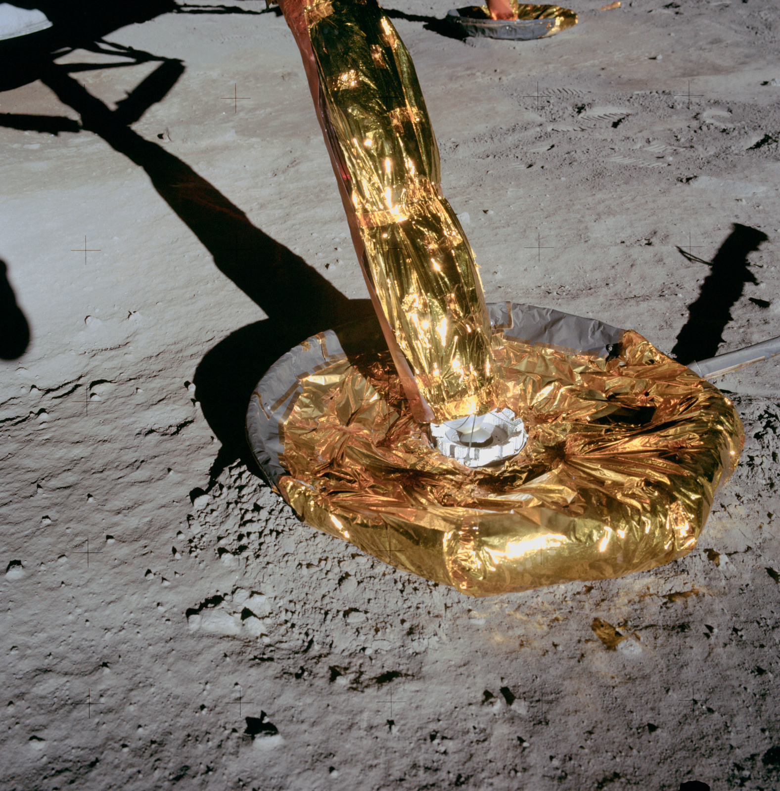 AS11-40-5926 - Apollo 11 - Apollo 11 Mission image -  -Z Lunar Module footpad