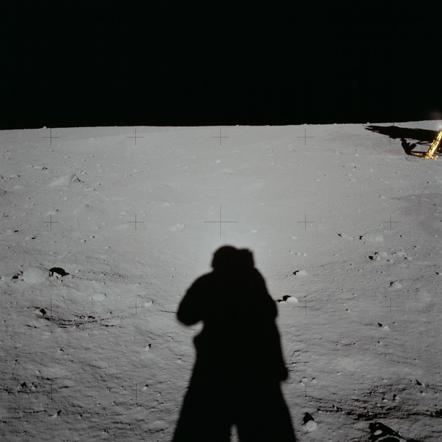 AS11-40-5930 - Apollo 11 - Apollo 11 Mission image - Lunar surface and horizon Module