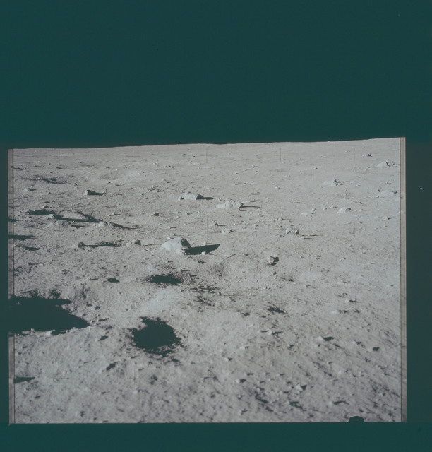 AS11-40-5939 - Apollo 11 - Apollo 11 Mission image - Lunar surface and horizon