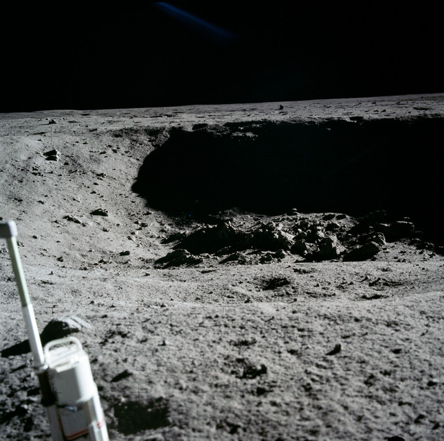 AS11-40-5954 - Apollo 11 - Apollo 11 Mission image - Lunar surface and horizon
