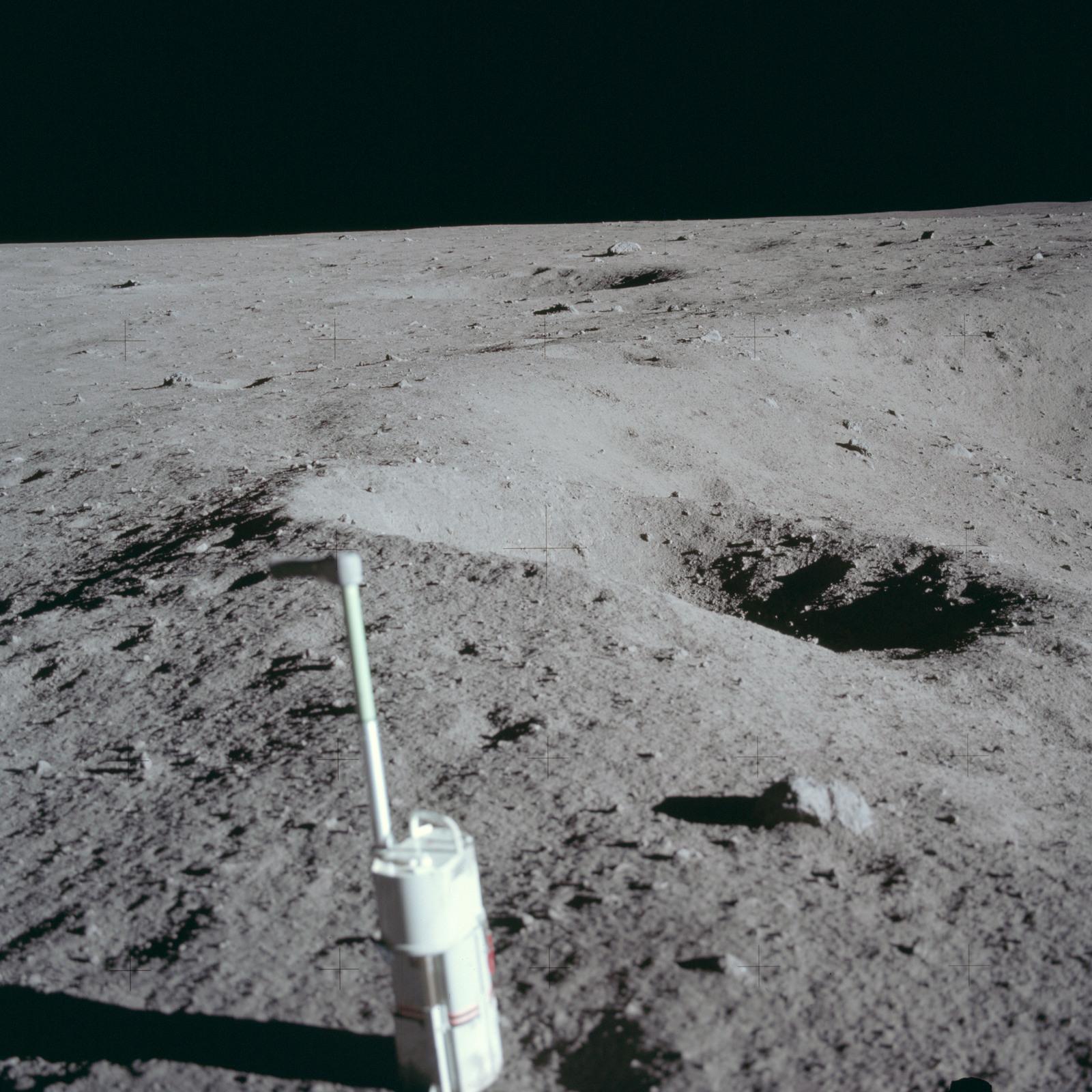 AS11-40-5959 - Apollo 11 - Apollo 11 Mission image - Lunar surface and horizon