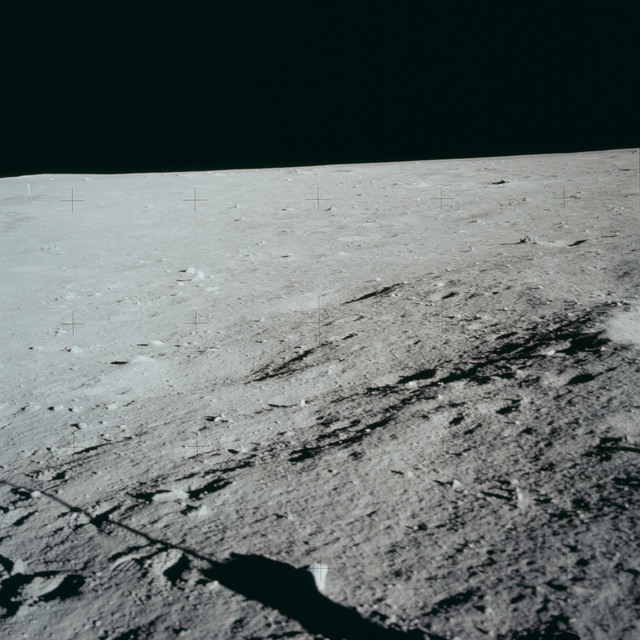 AS11-40-5960 - Apollo 11 - Apollo 11 Mission image - Lunar surface and horizon