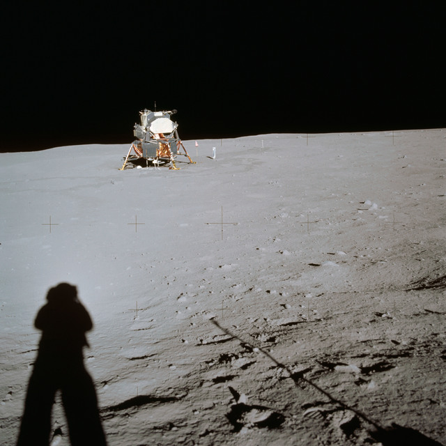 AS11-40-5961 - Apollo 11 - Apollo 11 Mission image - Lunar Module at Tranquility Base