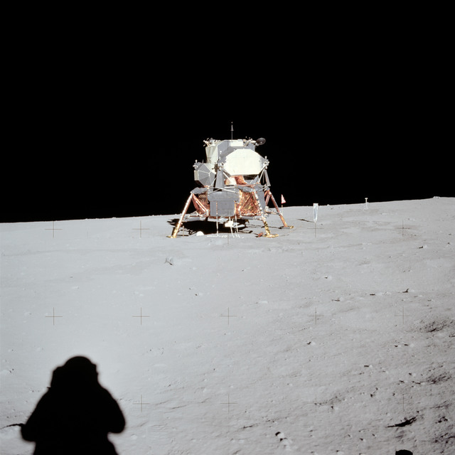 AS11-40-5962 - Apollo 11 - Apollo 11 Mission image - Lunar Module at Tranquility Base