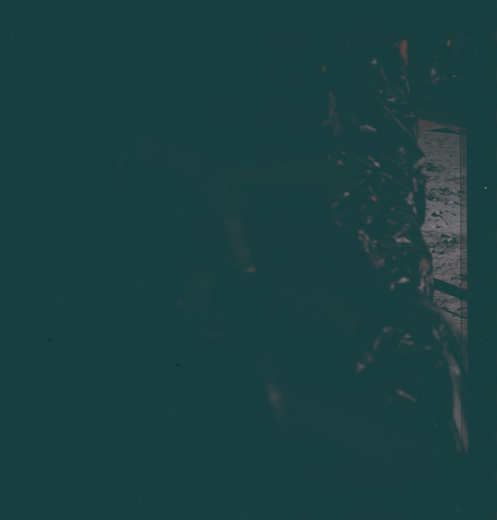 AS11-40-5966 - Apollo 11 - Apollo 11 Mission image - Dark view of Lunar Module