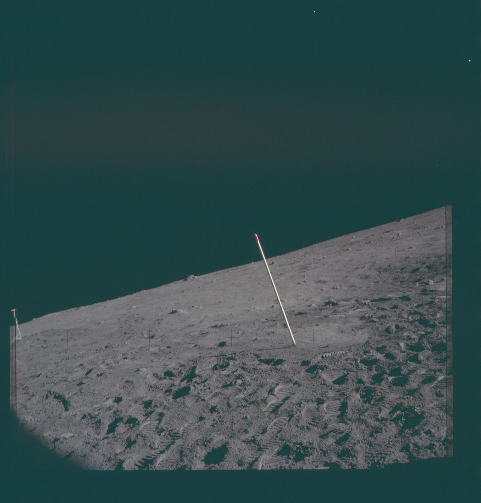 AS11-40-5968 - Apollo 11 - Apollo 11 Mission image - Lunar surface and horizon