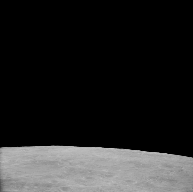 AS11-41-5982 - Apollo 11 - Apollo 11 Mission image - View of Moon, Crater 282  North of TO 43