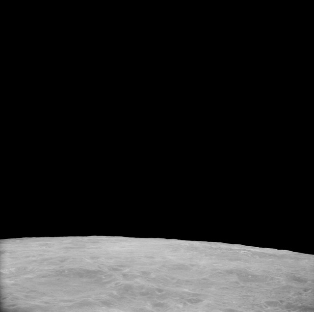 AS11-41-5983 - Apollo 11 - Apollo 11 Mission image - View of Moon, Crater 282  North of TO 43
