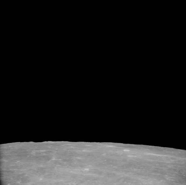 AS11-41-6004 - Apollo 11 - Apollo 11 Mission image - View of Moon, Craters 199 and 270