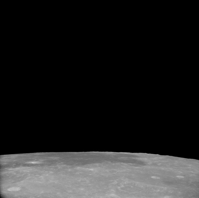 AS11-41-6013 - Apollo 11 - Apollo 11 Mission image - View of Moon, Craters 192, 189 and 267