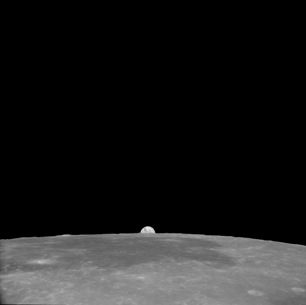 AS11-41-6017 - Apollo 11 - Apollo 11 Mission image - View of Moon, Crater 189