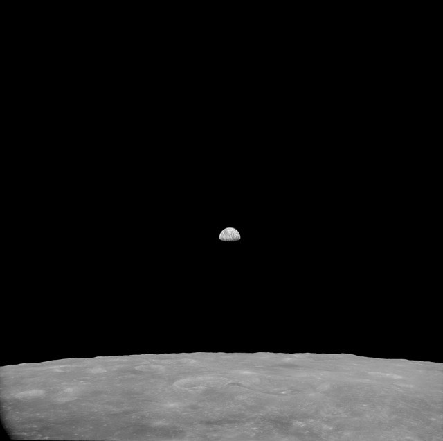 AS11-41-6032 - Apollo 11 - Apollo 11 Mission image - View of Moon, Smyth's Sea/Crater Schubert