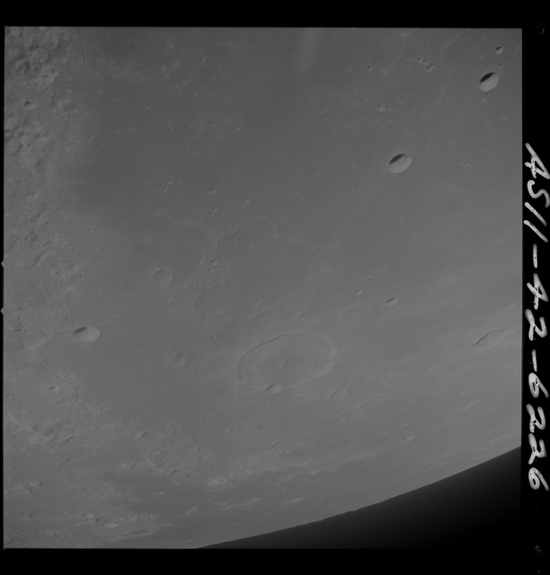 AS11-42-6226 - Apollo 11 - Apollo 11 Mission image - TO 67, partial coverage, area south of Sea of Crises