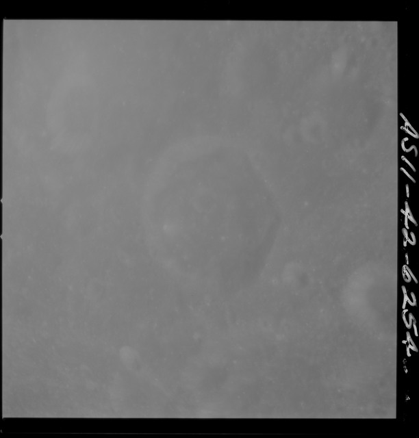 AS11-42-6254 - Apollo 11 - Apollo 11 Mission image - West of Crater 303