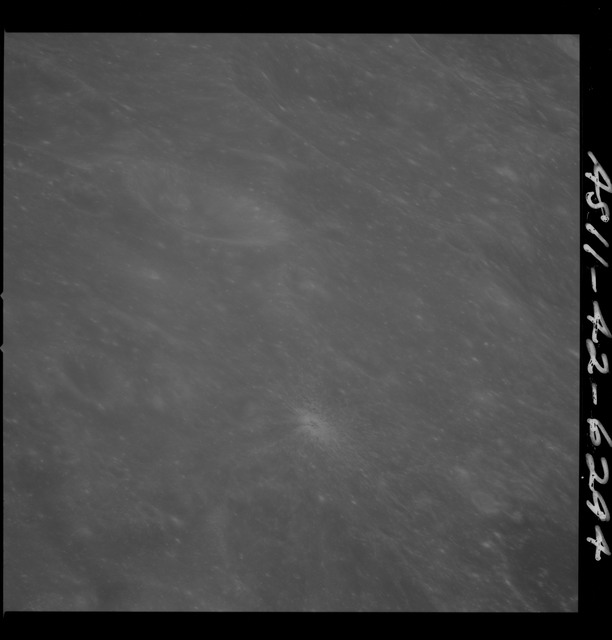 AS11-42-6294 - Apollo 11 - Apollo 11 Mission image - West edge of crater 226
