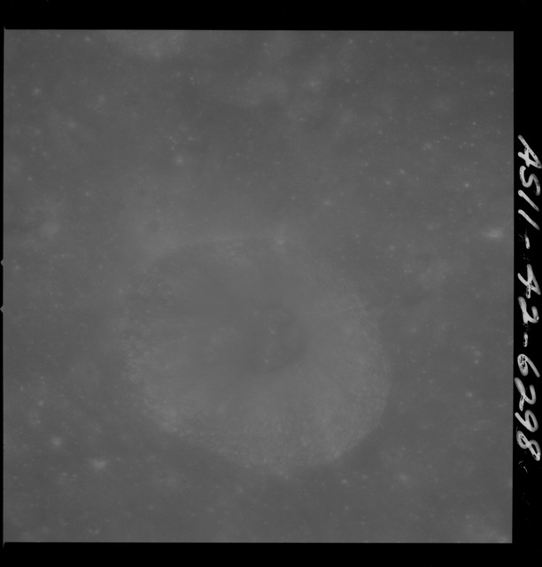 AS11-42-6298 - Apollo 11 - Apollo 11 Mission image - South of crater 201